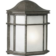 Forte Lighting 1-Light Outdoor Flush Mount; River Rock