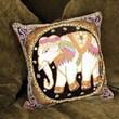 Oriental Furniture Burmese Elephant Pillow