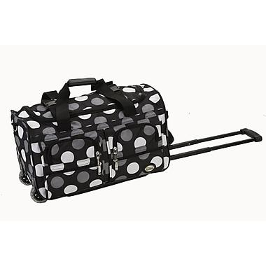 Rockland 22'' Travel Duffel with Shoulder Strap; New Black Dot