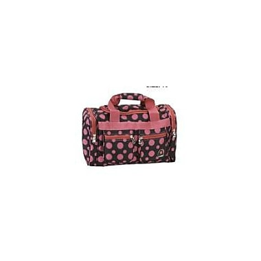 Rockland 19'' Carry-On Duffel; Black/Pink Dot