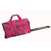Rockland 22'' Travel Duffel with Shoulder Strap; Pink Bandana