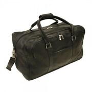 Piel Traveler 20'' Half-Moon Leather Travel Duffel; Chocolate