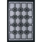 American Home Rug Co. Modern Living Omni Gray/Black Rug; 5' x 8'