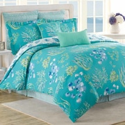 Soho New York Beachcomber 8 Piece Reversible Comforter Set; King