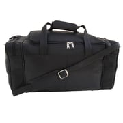 Piel 19.5'' Small Leather Carry-On Duffel; Black