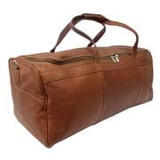 Piel Traveler's Select 25'' Leather Travel Duffel; Saddle