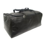 Piel Traveler's Select 25'' Leather Travel Duffel; Black