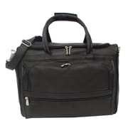 Piel Traveler 17'' Leather Carry-On Duffel; Black