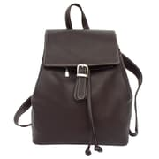 Piel Top Flap Drawstring Backpack; Chocolate