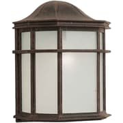 Forte Lighting 1-Light Outdoor Flush Mount; Painted Rust