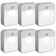 Mr. Beams Mr Beams MB726 Battery Powered Motion Sensing LED Nightlight, White, 6-Pack