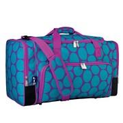 Wildkin Ashley Big Dot 22'' Weekender Duffel Bag; Purple