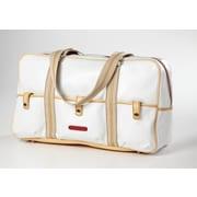 Clava Leather Carina 18'' Travel Duffel; White