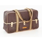 Clava Leather Carina 18'' Travel Duffel; Cafe