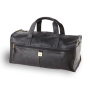 Clava Leather 12.5'' Leather Travel Duffel; Black