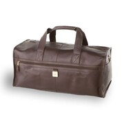 Clava Leather 12.5'' Leather Travel Duffel; Caf