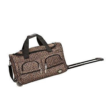 Rockland 22'' Travel Duffel with Shoulder Strap; Leopard