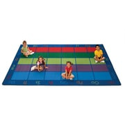 Carpets for Kids Colorful Seating Places Area Rug; 8'4'' x 13'4''