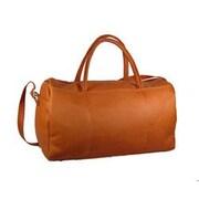 David King 19'' Leather Carry-On Duffel; Tan