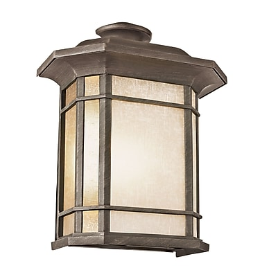 TransGlobe Lighting Corner Windows 2 Light Outdoor Flush Mount; Rust WYF078275800349