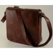 Alberto Bellucci Verona Messenger Bag; Dark Brown