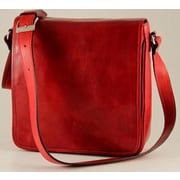 Alberto Bellucci Verona Messenger Bag; Red