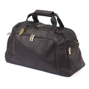 Claire Chase 9'' Leather Carry-On Duffel; Caf