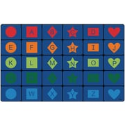 Carpets for Kids Simple Shapes Seating Blue Area Rug; 7'6'' x 12'