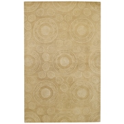 Capel Spindles Beige Area Rug; 4' x 6'