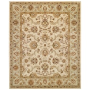 Capel Monticello Beige/Spa Meshed Area Rug; 2' x 3'