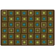 Carpets for Kids Squares Seating Kids Rug; 6' x 9'