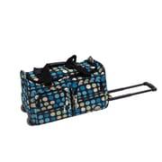 Rockland 22'' Travel Duffel with Shoulder Strap; Multi-blue Dot