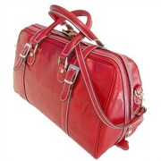 Floto Imports Trastevere 18'' Leather Travel Duffel; Tuscan Red