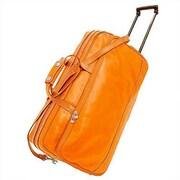 Floto Imports Milano 21'' Leather 2 Wheeled Travel Duffel; Orange
