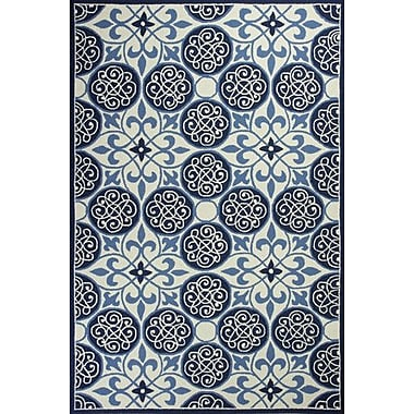 KAS Rugs Colonial Blue / Ivory Area Rug; 3'6'' x 5'6''