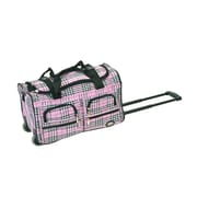 Rockland 22'' Travel Duffel with Shoulder Strap; Pinkcross