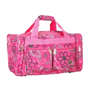 Rockland 19'' Carry-On Duffel; Pink Bandana