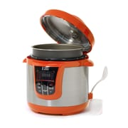 Elite by Maxi-Matic Bistro 8-Quart Electric Stainless Steel Pressure Cooker; Orange
