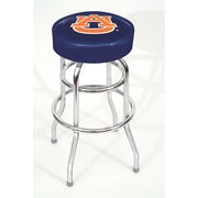 Imperial NCAA 30'' Swivel Bar Stool with Cushion; Auburn