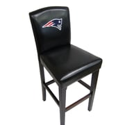 Imperial NFL Bar Stool with Cushion (Set of 2); New England Patriots