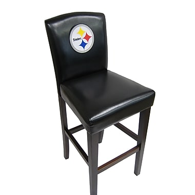 Imperial NFL Bar Stool with Cushion (Set of 2); Pittsburgh Steelers