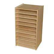 Wood Designs Mobile Paper and Puzzle Storage Center; No