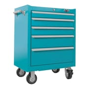 Viper Tool Storage 26'' Wide 5 Drawer Bottom Cabinet; Teal