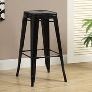 Monarch Specialties Inc. Cafe 30'' Bar Stool (Set of 2); Black Glossy