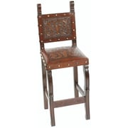 New World Trading Colonial Bar Stool with Cushion; Rustic