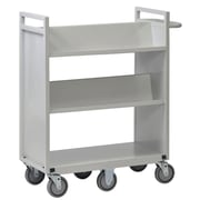 Buddy Products 6 Wheel Sloped Book Cart