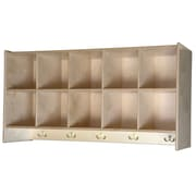 Wood Designs 5-Section Cubby Wall Locker