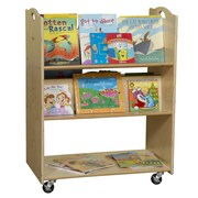 Wood Designs Sloped-Shelf Book Cart