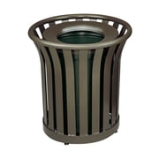 Rubbermaid Commercial Products 24-Gal Americana Waste Receptacle; Black