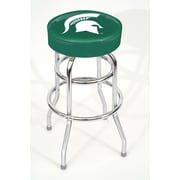 Imperial NCAA 30'' Swivel Bar Stool with Cushion; Michigan State